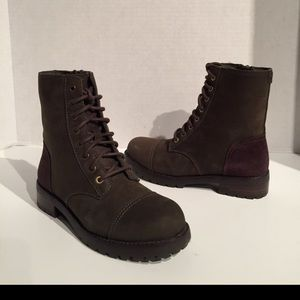 Ugg Leather Military Zipper Booties
